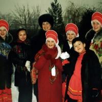 """""""Лебедушка"""" на новогодней съемке, 41-й канал"""