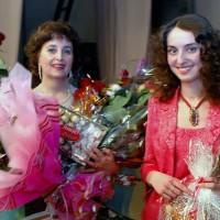 После юбилейного концерта с дочерью Анастасией, 2007г.