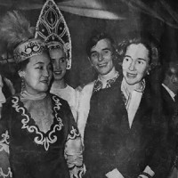 С королевой Бельгии, Франция 1972г.